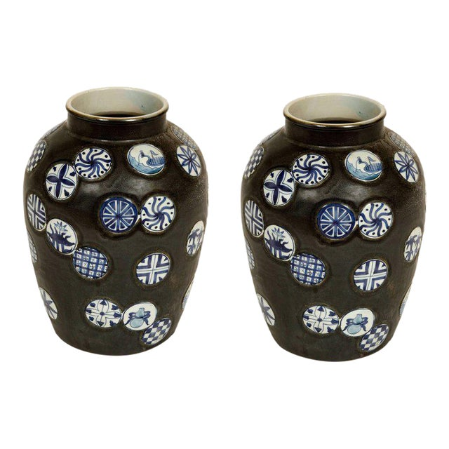 Pair of Ceramic Vases For Sale