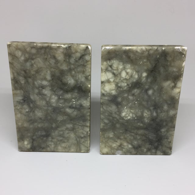Marble Stacked Books Bookends - A Pair - Image 4 of 8
