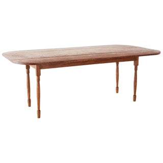19th Century English Country Oak Drop Leaf Farmhouse Table For Sale