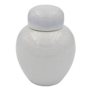 Rodney Rouse American Porcelain Ginger Jar With Craquelure Glaze For Sale
