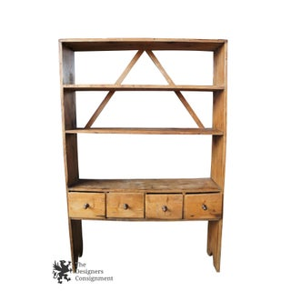 20th Century Country Pine Library Bookshelf Preview
