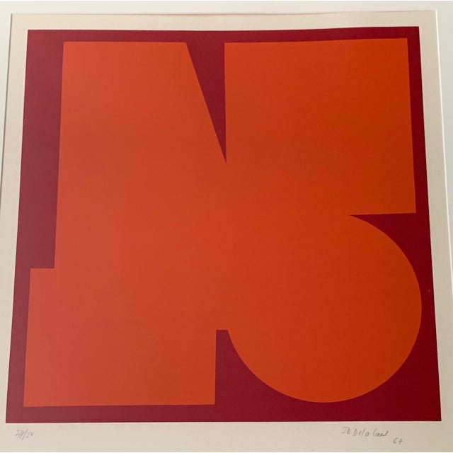 Item: For your consideration we are presenting for sale an amazing vintage geometric / abstract / op-art serigraph wall...