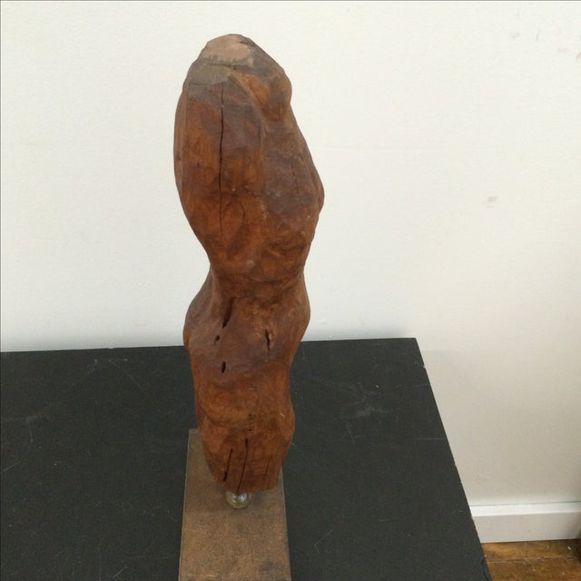 Sculpted Figure on Stand - Image 5 of 7