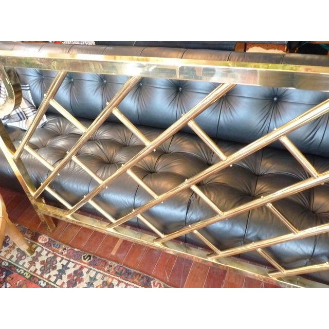 Brass Chippendale-Style King Headboard - Image 4 of 6