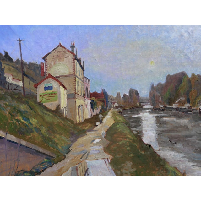 H. Curcuru French River Scene Painting - Image 1 of 4