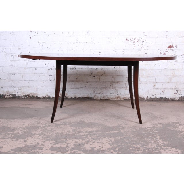 Harvey Probber Mid-Century Modern Saber Leg Rosewood Extension Dining Table, Newly Refinished For Sale In South Bend - Image 6 of 13