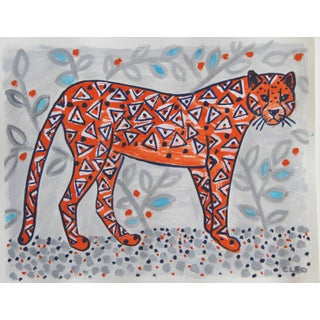 Abstract African Leopard Cheetah Painting by Cleo Plowden For Sale