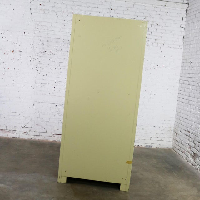 Mid 20th Century Industrial Metal 36 Inch Wide Display Cabinet or Bookcase With Glass Doors For Sale - Image 5 of 13