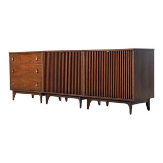 Broyhill Brasilia Three-Piece Modular Media Cabinet Credenza For Sale