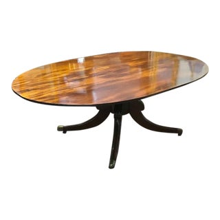 Antique 19th Century English Oval Mahogany Tilt Top Dining Table For Sale