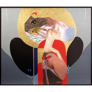 "Felix Mas ""Lady"" Hand Signed Ltd Edition Serigraph Art Print Unframed, Spanish For Sale"