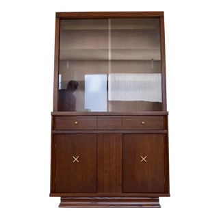 1940s Mid-Century Modern Paul Frankl China Cabinet For Sale