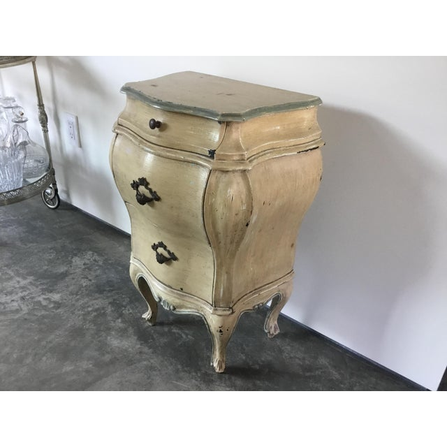 French Bombay style night stand with three drawers. Made in the 1930s.