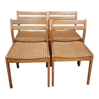 Set of Four Vintage Teak Kitchen Chairs C.1970s For Sale