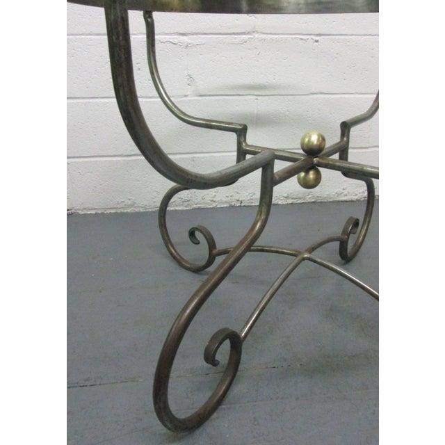 1950s Italian Iron Centre Table Stlye of Alberto Orlandi For Sale - Image 5 of 7