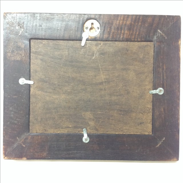 Rustic Antique Folk Art Wall Mirror For Sale - Image 3 of 4