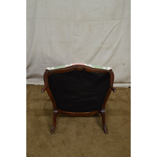 French Louis XV Style Custom Quality Fauteuil Arm Chair For Sale - Image 11 of 13