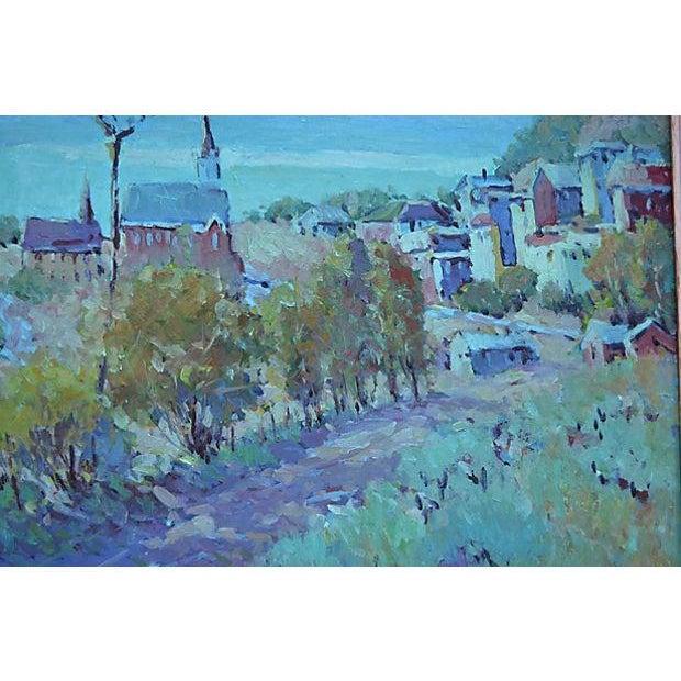 Blue-Tone Village Scene - Image 2 of 2