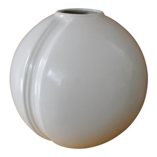 Modern White Round Vase For Sale