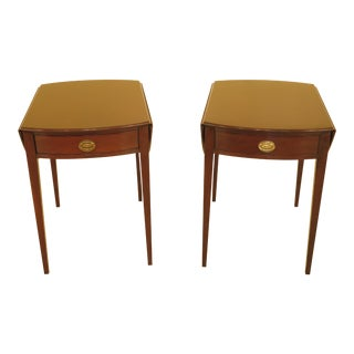 Kittinger Mahogany Pembroke Tables - a Pair