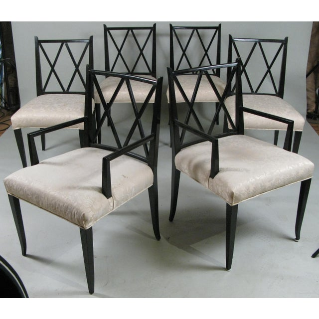 1950s Set of Six 'Double X' Dining Chairs by Tommi Parzinger for Parzinger Originals For Sale - Image 11 of 11