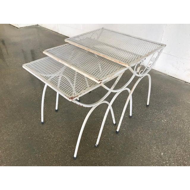 Mid-Century Modern Salterini Iron Nesting Tables - Set of 3 - Image 3 of 9
