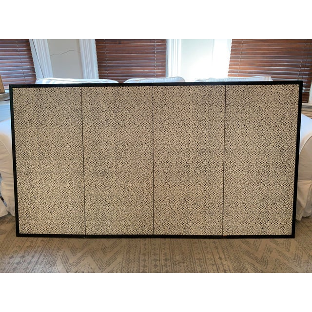 Vintage Japanese Gold-Leaf Byobu 4 Panel Folding Screen with Three Samurai on Horseback and Pines For Sale - Image 9 of 13