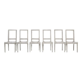 Set of 6 Louis XVI Style Side Chair Frames For Sale