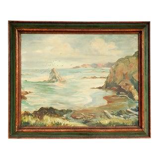 Seascape Rocky Coastline Painting For Sale