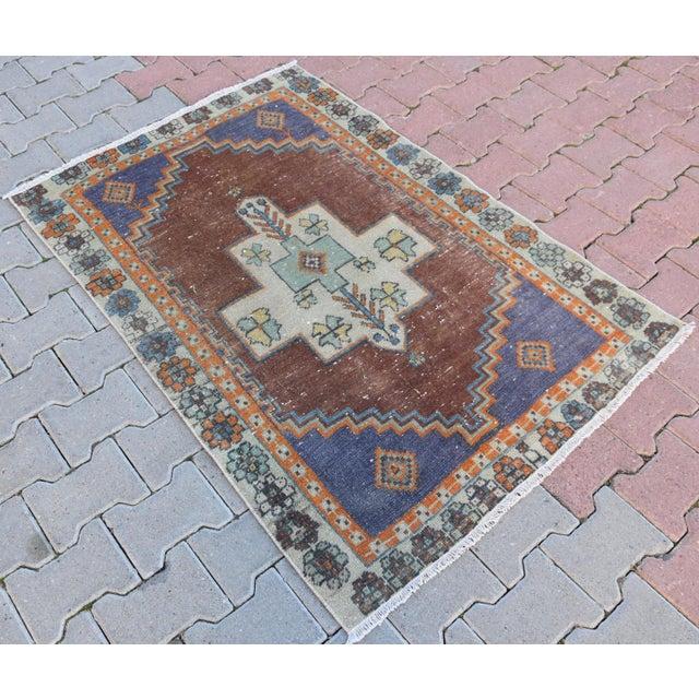 Turkish Handmade Vintage Pastel Pile Rug - 3′1″ × 4′9″ - Image 3 of 6
