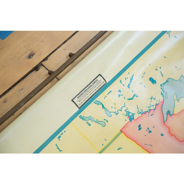 Vintage 1930s Crams Pull Down Map For Sale - Image 7 of 9