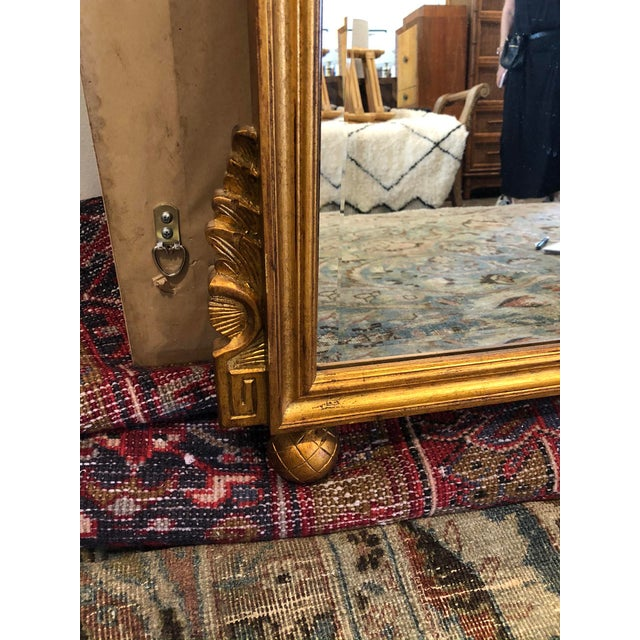 Antique French Gold Leaf Wall Mirror For Sale - Image 4 of 7