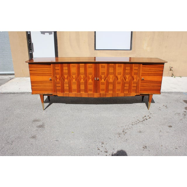1940s Art Deco Exotic Macassar Ebony Sideboard / Buffet For Sale - Image 13 of 13