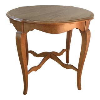 Ethan Allen Legacy Country French High Leg End Table For Sale