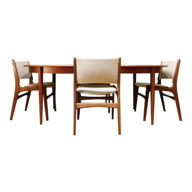 Mid-Century Modern Gudme Mobelfabrik Danish Teak Dining Table & 4 Chairs For Sale
