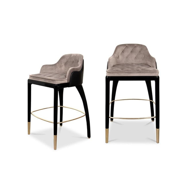 Covet Paris Charla Bar Chair For Sale - Image 9 of 9