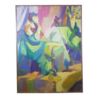 1990s Barbara Yeterian Abstract Figural Painting For Sale