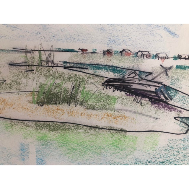 Contemporary Mid-Century Pawley's Island Sc Lowcountry Marsh Scene, 1966 For Sale - Image 3 of 7