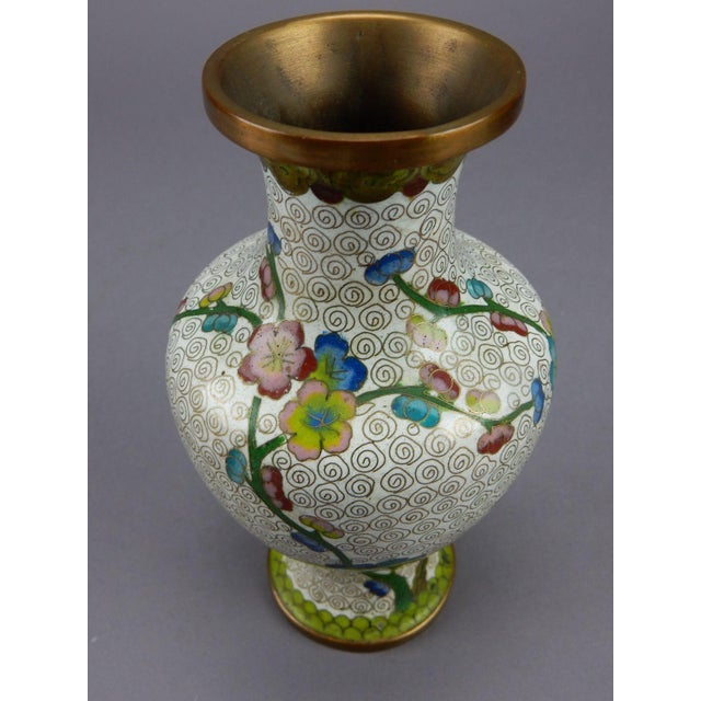 Antique Chinese Cloisonne Vase For Sale - Image 10 of 11