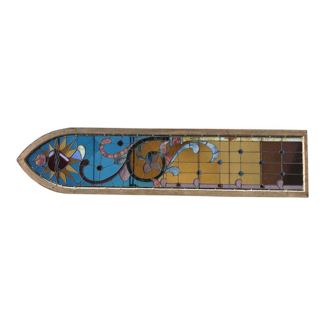 Antique Stained Glass Window, Circa 1900s For Sale - Image 12 of 12