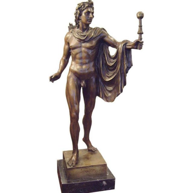 19th Century Italian Male Nude Bronze Statue For Sale In New Orleans - Image 6 of 6