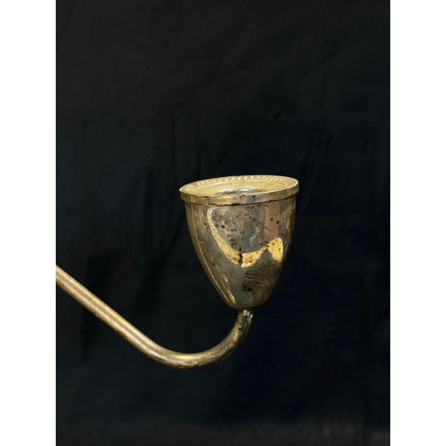 Vintage Art Deco Sterling Silver Candlestick Holder Candelabra's - a Pair For Sale - Image 4 of 12