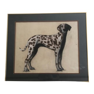 Dalmation Vintage Pastel Portrait For Sale