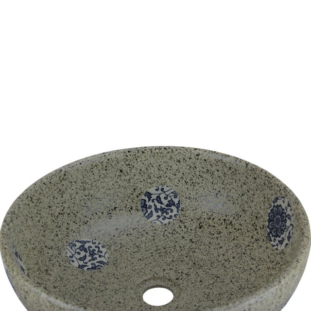 "Pasargad DC Modern Stone Design Sink Bowl Material Porcelain Size L16.11"" X W16.11"" X H6.2"""