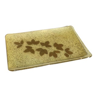 1970s Riccardo Marzi Mid Century Modern Resin Gold Tray For Sale