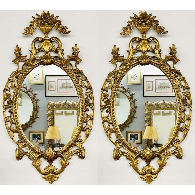 Pair Gilt Wood Wall or Console Mirrors For Sale - Image 12 of 12