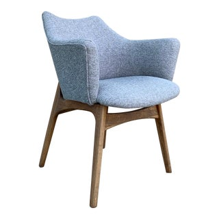 Mid Century Adrian Pearsall Sculptural Walnut 2418-C Dining Chair For Sale