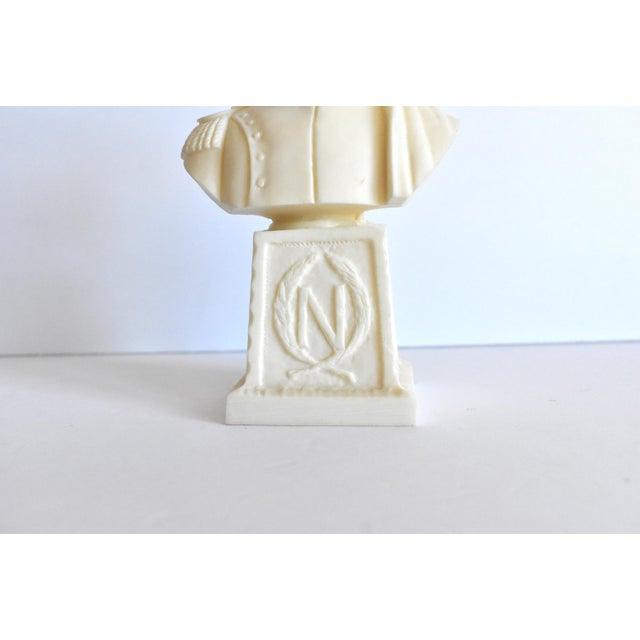 Vintage Italian Resin Napoleon Bust on Pedestal For Sale - Image 9 of 12