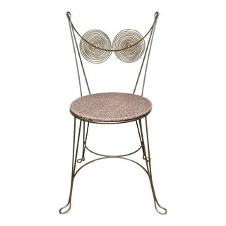 Mid 20th Century Tony Paul Wire Owl Bistro Chair For Sale