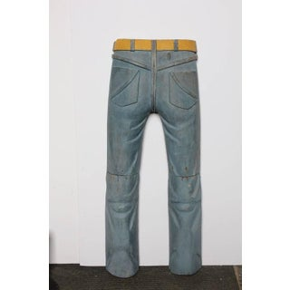 20th Century Folk Art Hand Carved Jeans Sculpture Preview